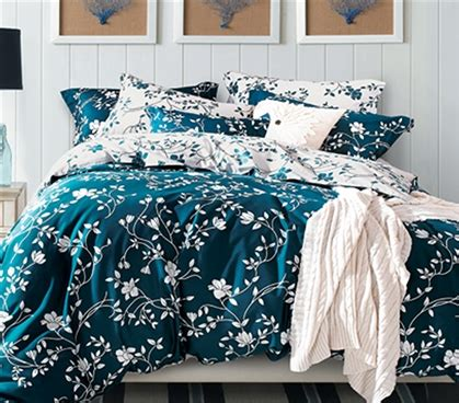 Teal And White Bedding by Moxie Vines Teal And White Xl Comforter