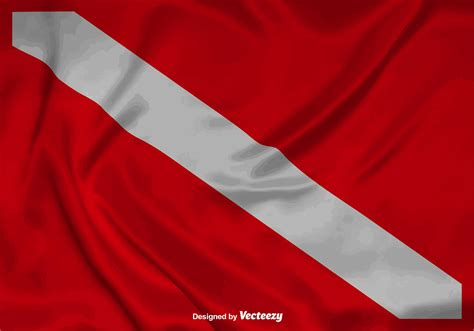 dive flag vector realistic dive flag background free