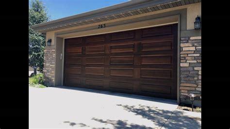 painting garage door to look like wood