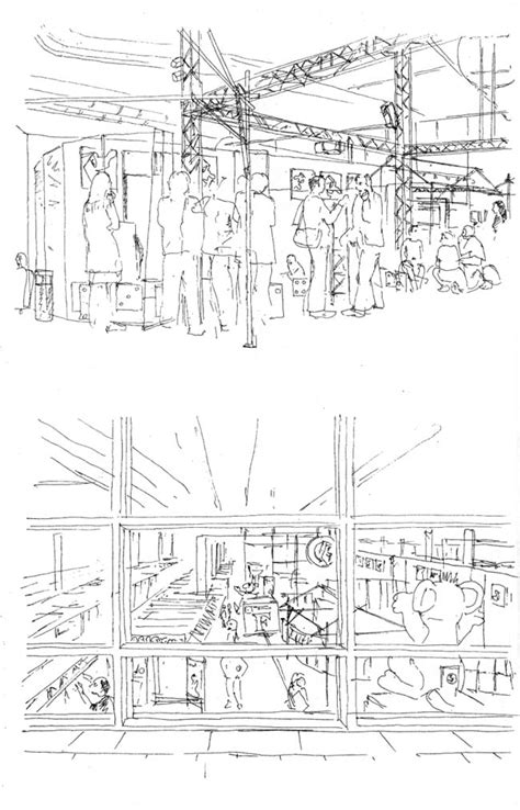sketchbook quartett drawings made at comics festivals by andy bleck