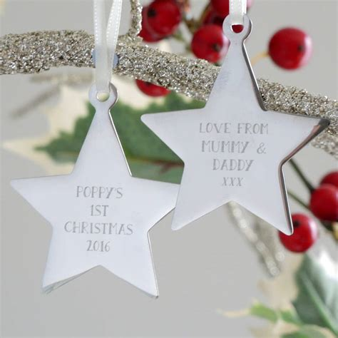 personalised first christmas decorations