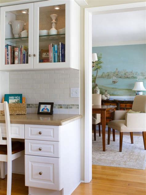 Kitchen With Built In Desk by Built In Kitchen Desk Keeps Things Organized Hgtv