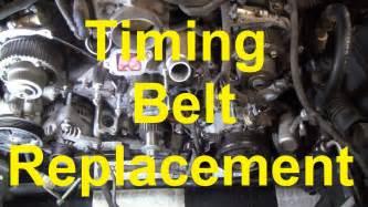 how to change the timing belt in a toyota v8 2uz fe 3uz