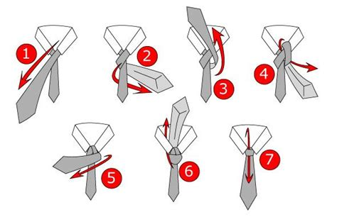 How To Make A Number 4 Knot - a step by step illustration of how to tie a tie this