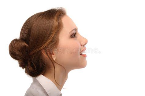 imagenes para perfil mujeres retrato de la mujer de negocios hermosa en perfil imagen