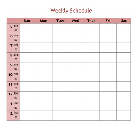 microsoft weekly planner template best photos of 5 day calendar template microsoft weekly