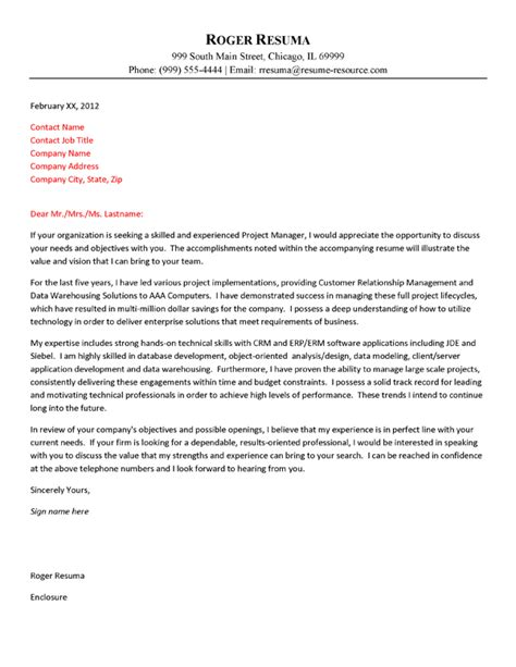 technical cover letter technology cover letter exle
