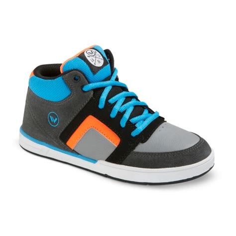 boy s shaun white 174 la jolla leather high top sneakers gray
