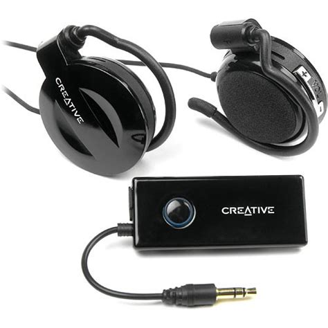 Headset Bluetooth Creative creative labs se2300 wireless clip on headphones