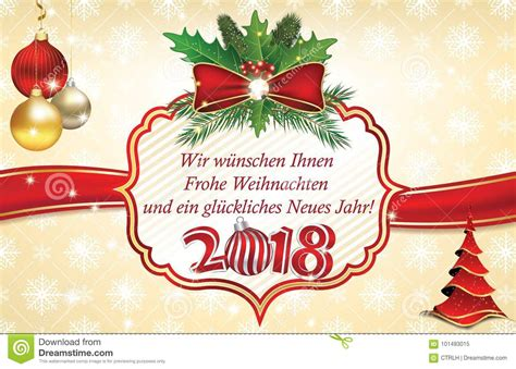 happy  year  greeting card  german language stock illustration illustration