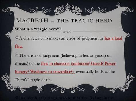 how is macbeth a tragic hero essay macbeth hamlet tragic hero