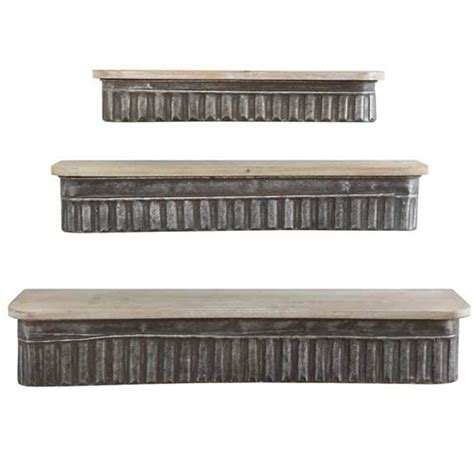 metal wood shelves set 3 da5841