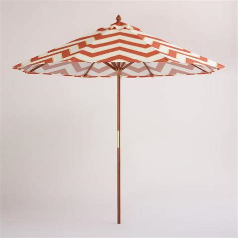 World Market Patio Umbrellas 9 Orange Chevron Umbrella World Market