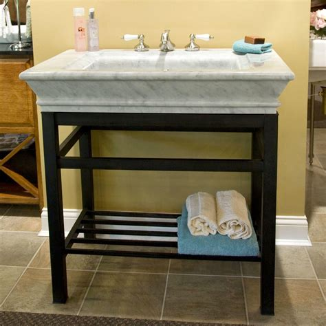 carrara marble console sink modern console vanity with carrara marble sink top ideas