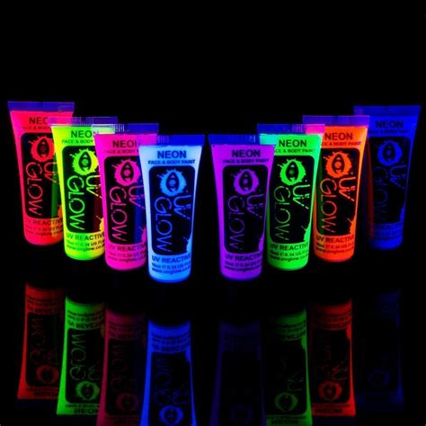 glow in the paint no blacklight neon glow in the and paint 8pcs uv