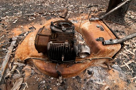 After Sadturday file csiro scienceimage 10635 a lawnmower destroyed by