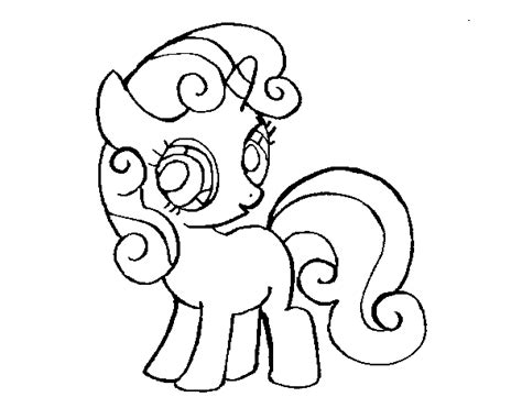 sweetie belle coloring page coloringcrew com