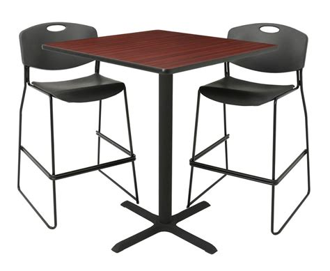 regency cain tcb3636 square cafe table