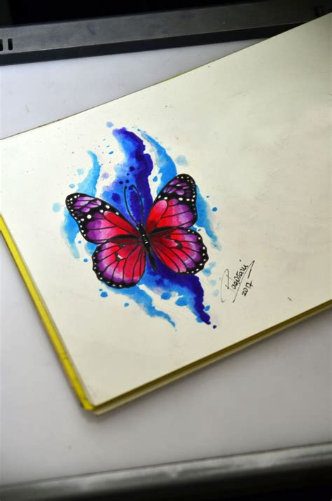 watercolor tattoo sketch 17 best ideas about watercolor butterfly on