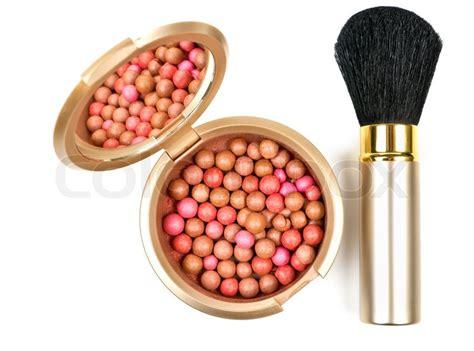 Blush On Bronzing Pearl Blushon Bronzing bronzing pearls in powder box with mirror and make up