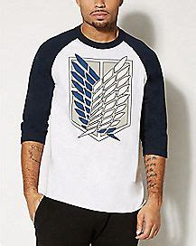 Raglan Attack On Titan 09 sleeve t shirts sleeve shirts for spencer s