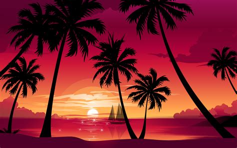 Palm Tree Wallpaper by Palm Tree Sunset Wallpapers