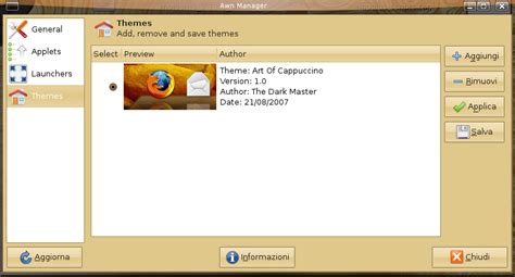 awn linux art of cappuccino theme for awn www linux apps com