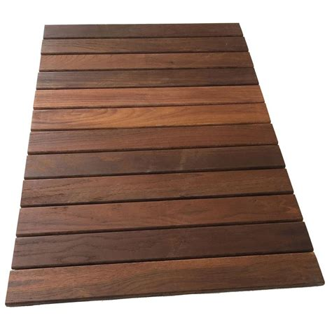 Deck Tiles by Rollfloor 2 Ft X 3 Ft Cing Wood Deck Tile Pads In