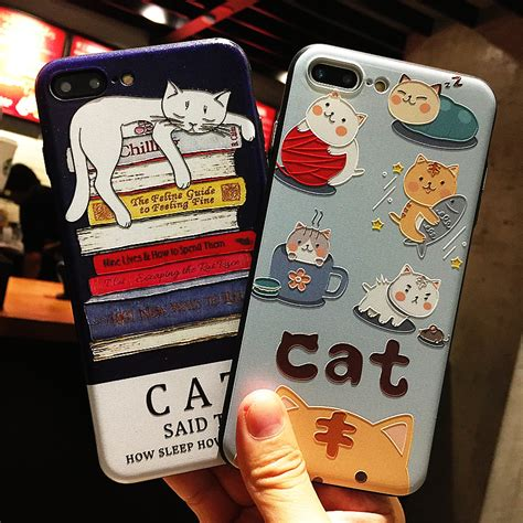 Softcase 2 In 1 Cat Ring Korean Iphone 6 6 7 7 8 8 lovely korean cat silicone for iphone 7 6 6s 5 5s soft phone cases