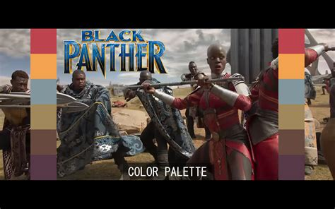 panther colors black panther color grading palette adeep oberoi