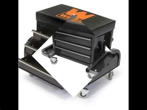 Rolling Tool Chest Stool by Wen Creeper Seat Garage Mechanics Stool Tool Chest Glider