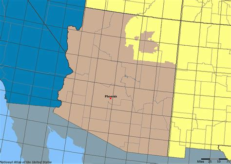 us time zone map arizona arizona map time zone