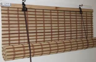 Dark Bamboo Blinds Roll Down Bamboo Shades Outdoor Visit Mydoor