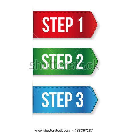One Step Amily 3 price tag three dollar stock vector 277630733