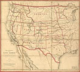 railroad maps transcontinental railroad