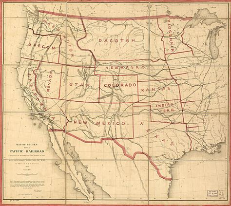 railroad map usa transcontinental railroad