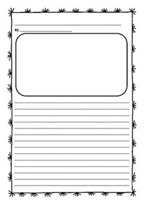 printable writing paper with space for picture junior writing publishing sheets with picture space