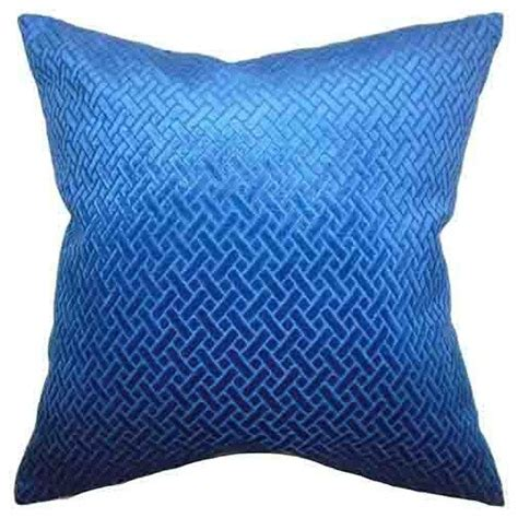 blue bed pillows brielle velvet blue 18 x 18 solid throw pillow