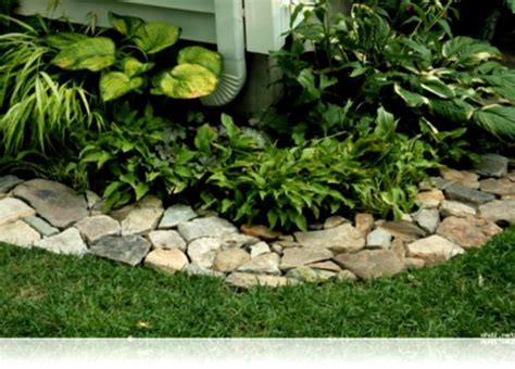 Rocks For Garden Borders Ideas Bamboo Garden Border Bed Edging Landscaping And Flower Rock Borders Homelk