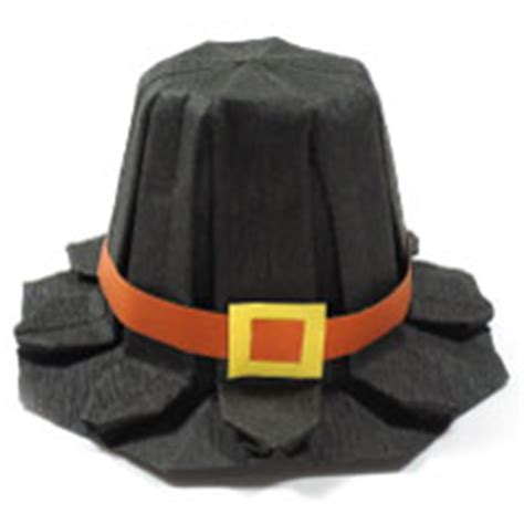 Origami Pilgrim Hat - how to make origami hat