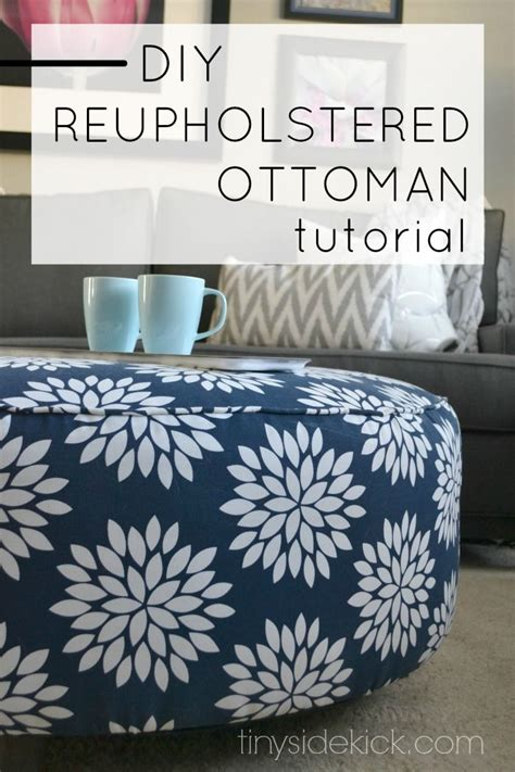 how to reupholster an ottoman how to reupholster an ottoman diy crafts