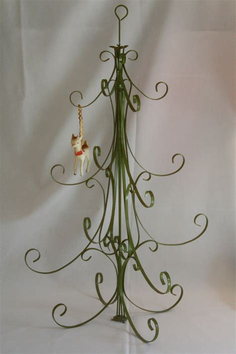 vintage metal christmas tree table top ornament holder