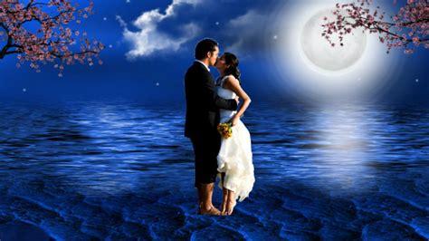 love fantasy full moon couple  romantic hd wallpaper