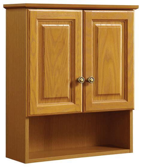 traditional bathroom cabinets claremont 21 quot x26 quot cab oak 2 door honey oak finish