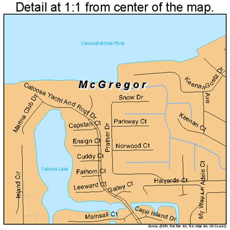mcgregor florida map 1242090
