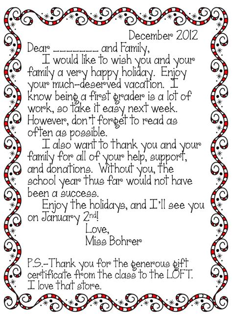 thank you letter to 1st grade erica bohrer s grade twas the week before