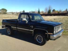 chevy short bed for sale 1985 chevy short bed 4x4 rust free factory black for sale