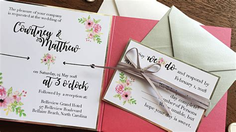 Simple Unique Wedding Invitations by Simple But Wedding Invitations Unique Pink
