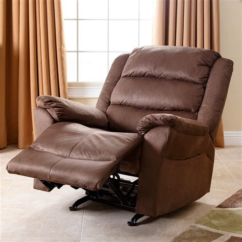 abbyson living recliner abbyson living aussie microfiber recliner in almond cr