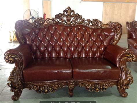 french country leather sofa french provincial furniture brown leather french luxury